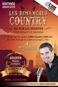 Les Dimanches Country de CJMS avec Mike Charlebois