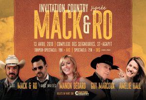 INVITATION COUNTRY Signée Mack et Ro @ Complexe des Seigneuries