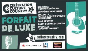 Forfait de luxe - Célébration Culture Country @ 1909 Taverne Moderne et Salle André Mathieu